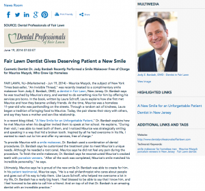 dentist in Fair Lawn, smile makeover, porcelain veneers, patient testimonial, Dr. Bardash